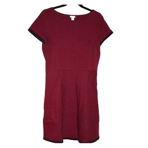 Maroon J Crew dress